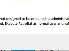 You try to run Retrobat.exe but you get this message